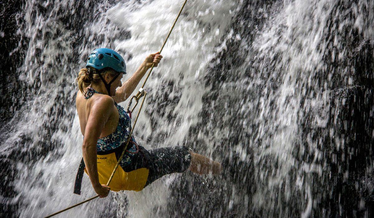 Waterfall Repelling in Hawaii
